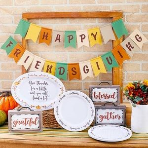 NWT! Whimsical Happy Friendsgiving Banner